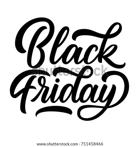 Black Friday Hand Lettering Isolated On White Background Sale Vintage Type Design Vector