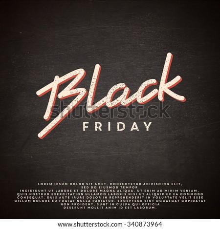 Black Friday illustration - stock vector