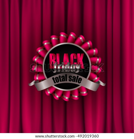Curtains Ideas black friday curtain sales : Illustration End Message On Curtain Stock Vector 133676786 ...