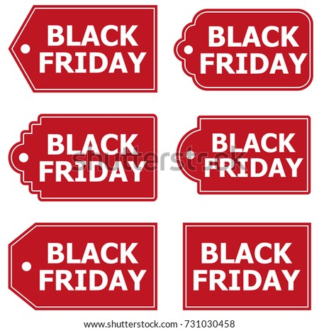 BLACK FRIDAY LABELS BANNERS