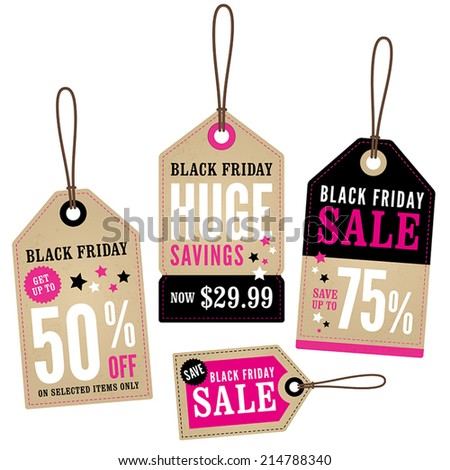 Black Friday Retail Labels  - stock vector