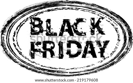 Black Friday Rubber Stamp. Grunge banner for sales promotion and advertising. Vector design.