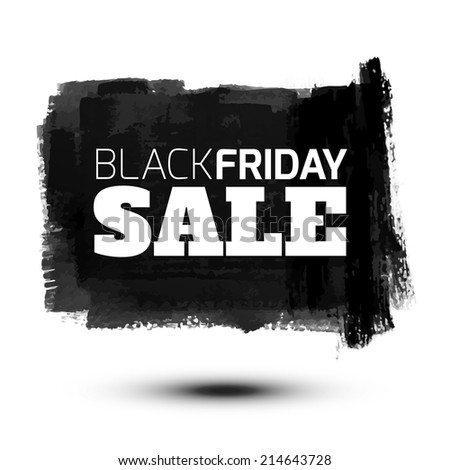 Black Friday Sale Abstract Vector Illustration for your business artwork. - stock vector