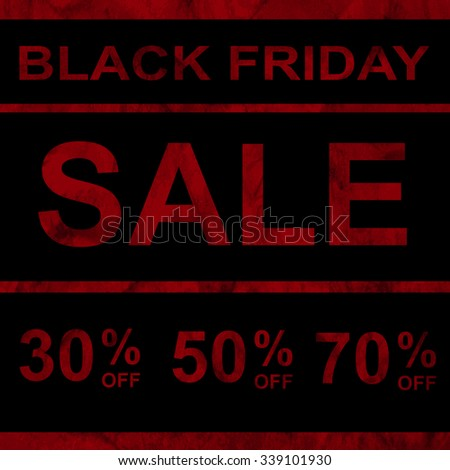 Black friday sale announcement on red watercolor background, web design, vector, eps 10