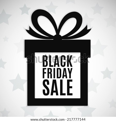 Black friday sale background. Gift icon. Vector illustration - stock vector