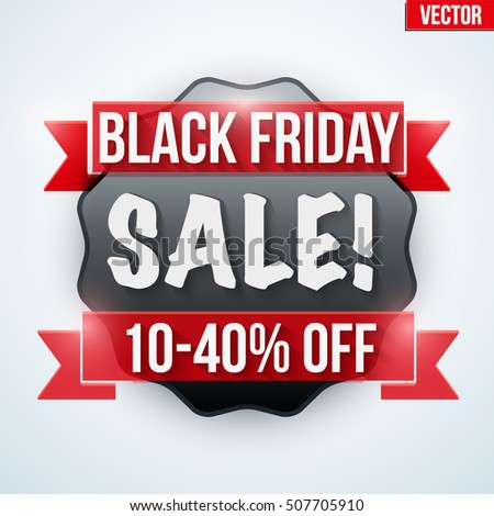Black Friday Sale badge and label. Vector badges realistic modern style. Editable Vector Illustration Isolated on background.