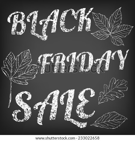 Black friday sale banner. Black friday announcement on vector chalkboard background