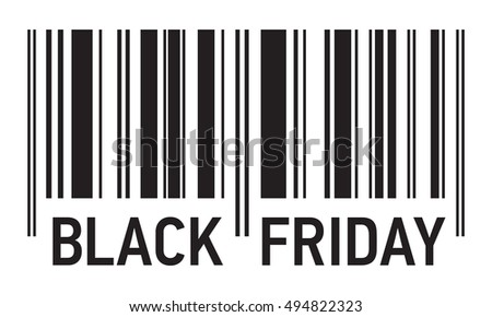 Black Friday Sale, barcode vector design