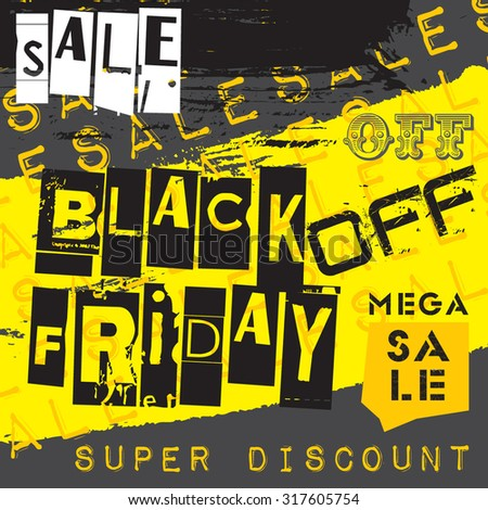 Black Friday Sale Design Vector