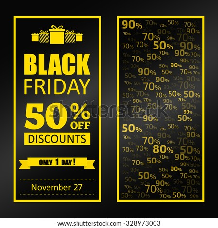 Black Friday sale flyer, advertising template.