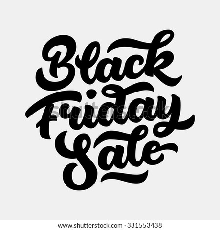 Black Friday Sale handmade lettering, calligraphy with light background for logo, banners, labels, badges, prints, posters, web, presentation. Vector illustration. - stock vector
