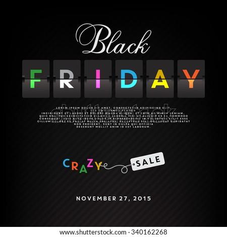 Black friday sale illustration - stock vector