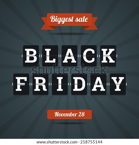 Black friday sale illustration in flat style.