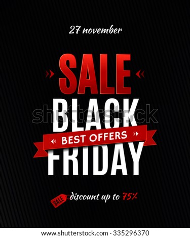 Black friday sale inscription design template. Black friday sale poster - stock vector