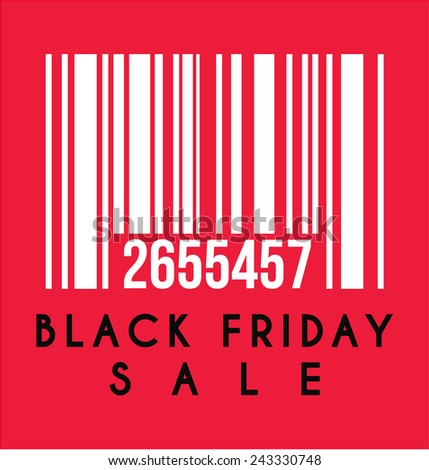 Black Friday Sale Label - stock vector