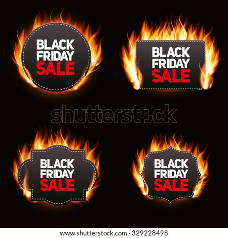 Black Friday Sale Label Vector Illustration EPS10 - stock vector