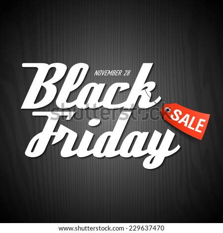 Black Friday Sale poster element. Vector. - stock vector