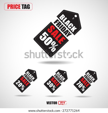 black Friday sale tag vector  - stock vector