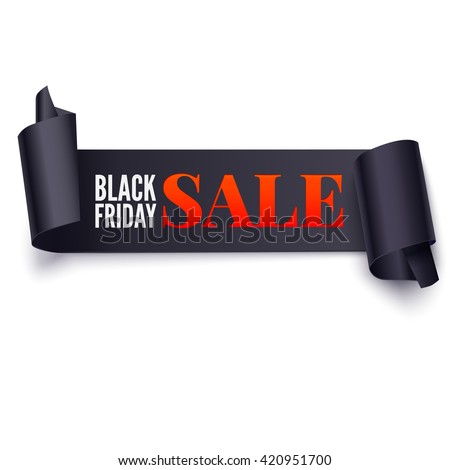 Black Friday Sale twisted banner. Great bright background for your offers, promotional posters, advertising shopping flyers and discount banners. Vector speech bubble