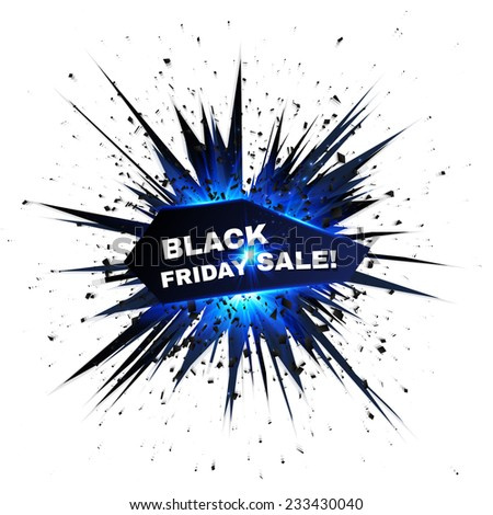 Black Friday sale vector star explosion with particles - stock vector