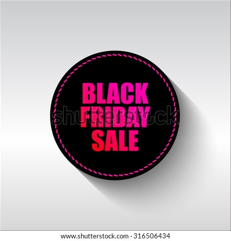 Black Friday sale vector tag. Limited time offer, percent, discount - stock vector