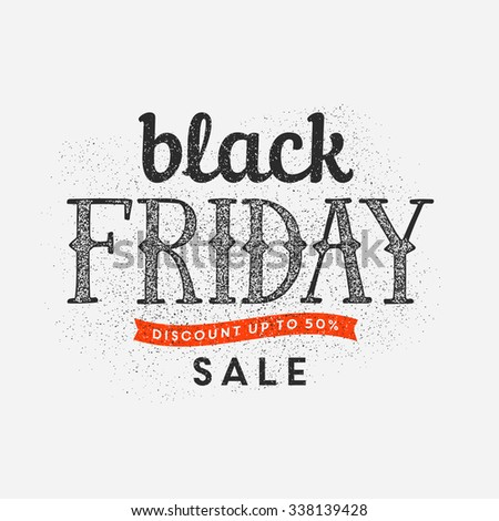 Black friday sales sign - stock vector