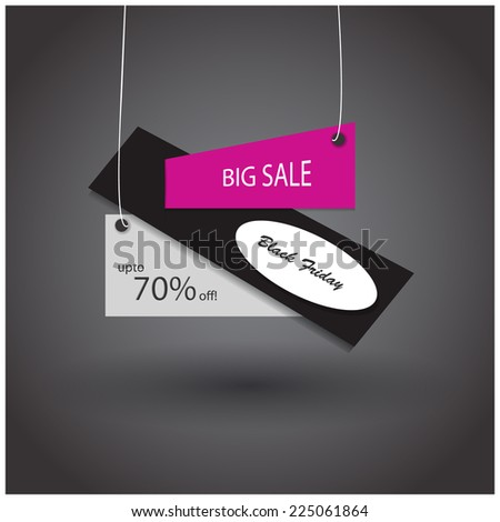 Black Friday sales tag template. - stock vector