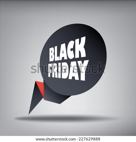 Black friday sales web element banner in 3d for promotion of discounts and advertisement of special offers. Eps10 vector illustration. - stock vector