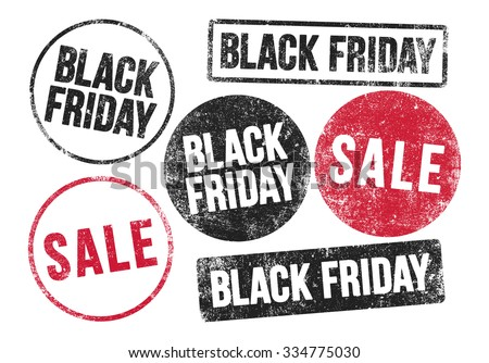 Black Friday stamps - stock vector