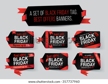 Black Friday tag. Black Friday Sale Banner. Vector illustration - stock vector
