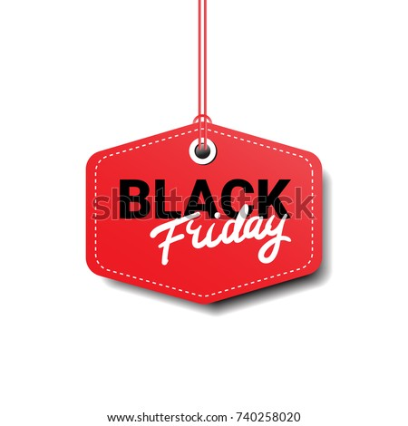 Black Friday Tag Isolated Big Sale Logo Design Flat Vector Illustration