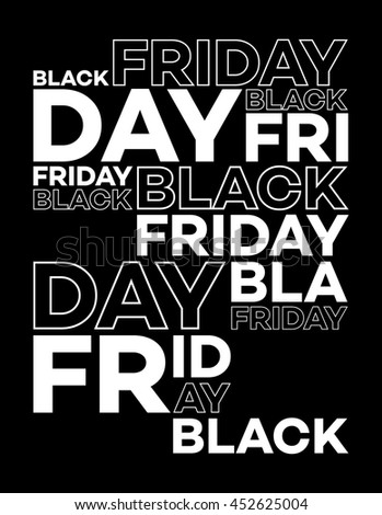 Black Friday Typographic Design