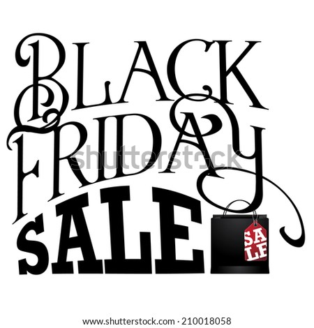 Black Friday typography EPS 10 Vector