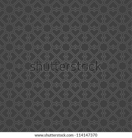 Black geometric pattern.Vector seamless - stock vector