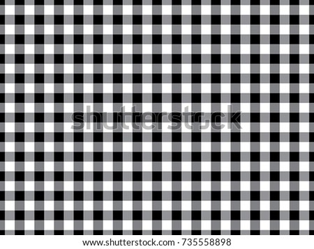 Black Gingham Tablecloth Seamless Background Pattern Design