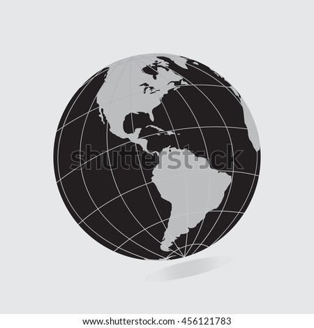Black globe icon map continents world vectores en stock 456121783 black globe icon with map of the continents world earth eps10 vector eps flat web art gumiabroncs Gallery