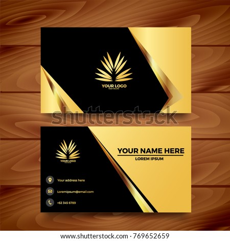 Black gold business card template design stock vector 769652659 black gold business card template design fbccfo Gallery