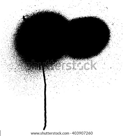 Black graffiti aerosol spray paint for your design - stock vector