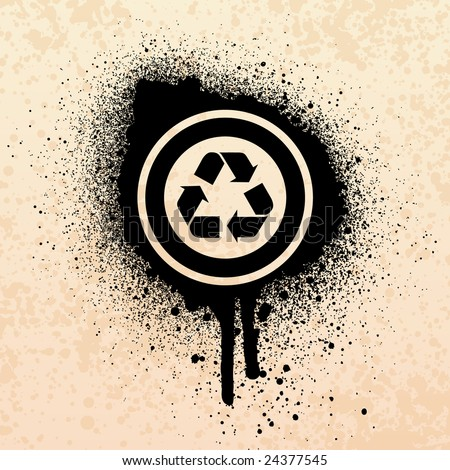Cool Recycle Symbol Spray Paint Recycle Symbol