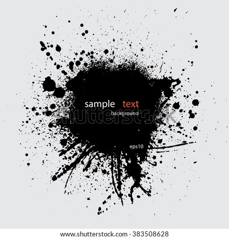 Black grunge background with sample text. eps10 - stock vector