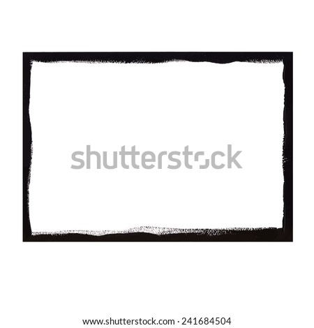 Black grunge frame - stock vector