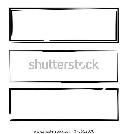 black grunge frame set - stock vector
