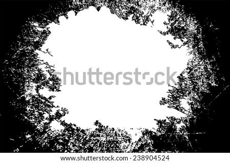 black grunge frame vector  with  white space at the center for your text or photo - stock vector