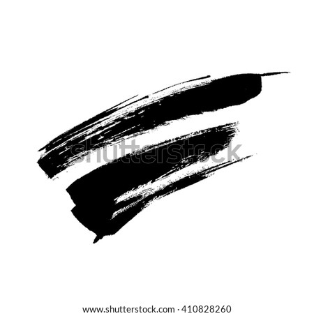 Black grungy vector abstract hand-painted background.  - stock vector