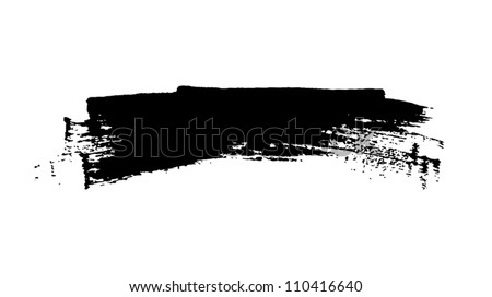 Black grungy vector abstract hand-painted brush stroke