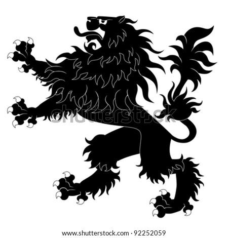 medieval symbols lions shield car interior design