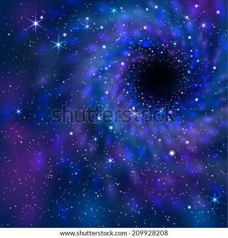 Black Hole. Space.  EPS 10. Mask was used, so you can move objects and use them separately.  Smartly grouped and layered.  - stock vector