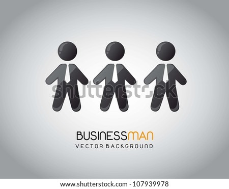black human icons with tie on gray background. vector illustration - stock vector