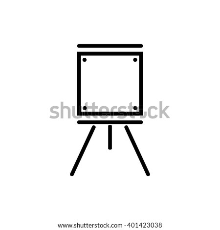 black icon easels