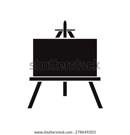 black icon easels on a white background